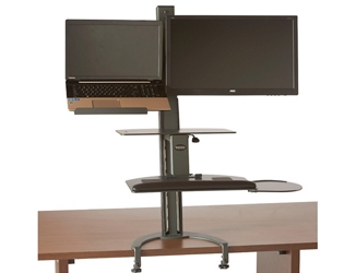 Sit Stand Laptop and Monitor Workstation , 60015