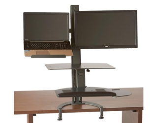 Sit Stand Laptop and Monitor Workstation , 60016