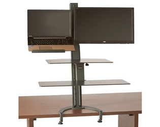 Sit Stand Laptop and Monitor Workstation , 60017