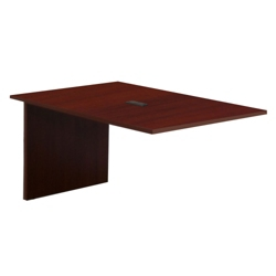 Hyperwork 4' Boat Shaped Conference Table Extension with Data Port, 44617