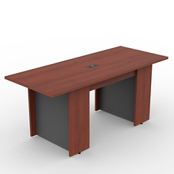 Ascend Rectangular Meeting Table with Power Module - 6', 46034