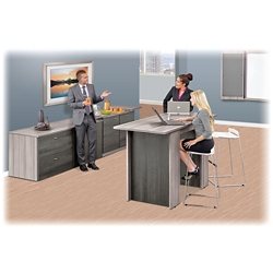 Ascend Rectangular Standing Height Meeting Table with Power Module - 6', 46042