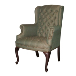Traditional Fabric Wing Chair, 53289
