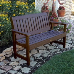 "Outdoor Vertical Slat Synthetic Wood Bench- 60""W, 85402"