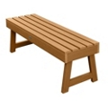 "Outdoor A Frame Synthetic Wood Bench 48""W, 85857"
