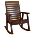 Outdoor Horizontal Slat Synthetic Wood Rocking Chair, 85859