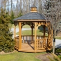 Synthetic Wood Octagonal Gazebo 10', 87456