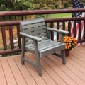 Outdoor Horizontal Slat Synthetic Wood Garden Chair, 85861