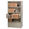 "36""W Five Drawer Roll Out Binder Lateral File with Drawer Dividers, 30635"