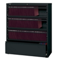 "42""W Four Drawer Roll Out Binder Lateral File with Drawer Dividers, 30637"