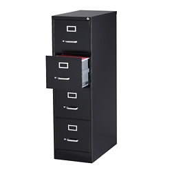 "26.5""D Four Drawer Letter Vertical File, 34503"