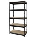 "Five Shelf Riveted Shelving - 36""W x 18""D x 72""H, 36253"