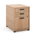 "Three Drawer Modern Pedestal - 16""W , 34942"