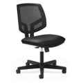 HON Volt Armless Mesh and Leather Task Chair with Synchro Tilt, 56974
