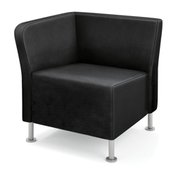 HON Flock Leather Corner Chair, 76063