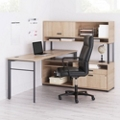 Layered L-Desk with Chair Set, 13831