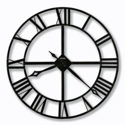 "Wrought Iron Roman Numeral Wall Clock - 32"" Dia, 85844"