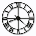"Wrought Iron Roman Numeral Wall Clock - 32"" Dia, 85844"