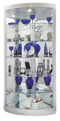 "Six Shelf Corner Curio - 79.5""H, 37047"