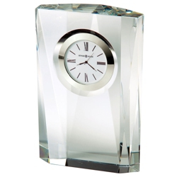 "Quest Crystal 7""H Desktop Clock, 82275"