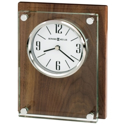 "Amherst 6.75""H Wood Panel Desktop Clock, 82276"