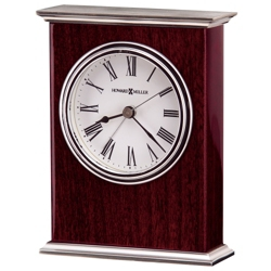 "Kentwood 5.5""H Veneer Tabletop Clock, 82278"