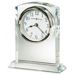 "Flaire 6.25""H Beveled Side Tabletop Clock, 82280"