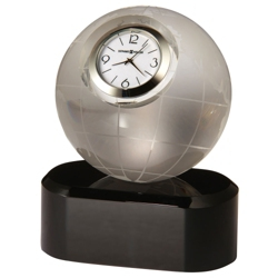"Axis 4.5""H Globe Shaped Desktop Clock, 82281"