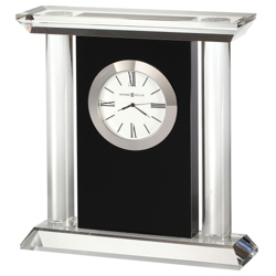 "Colonnade 6.75""H Glass Panel Tabletop Clock, 82283"