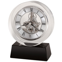 "Fusion 5.75""H Floating Dial Desktop Clock, 82284"