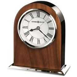 "Palmero 6""H Chrome & Wood Desktop Clock, 82285"