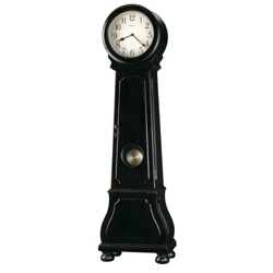 "Distressed Black Floor Clock - 22.75""W x 81.5""H, 85084"