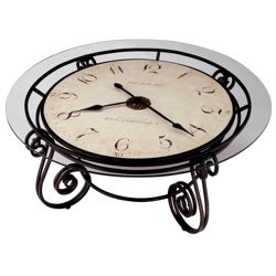 "Ravenna 40""Dia Coffee Table Floor Clock, 91129"