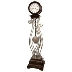 """Tennille 80.75""""H Metal Standing Clock, 91176"""