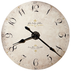 "32""Dia Antique Dial Wall Clock, 91245"