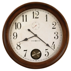 "32""Dia Wood Frame Gallery Wall Clock, 91247"