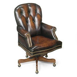 Button Tufted Executive Chair in Leather, 55087