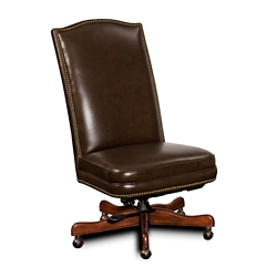 Armless Executive Chair in Leather, 55089