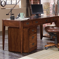 "Writing Desk with Leather Top - 60""W, 10668"