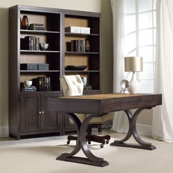Two-Tone Double Bookcase and Writing Desk Set , 10669