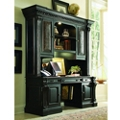 """Traditional Leather Inlay Credenza and Hutch - 71.25""""W x 24.5""""D, 11352"""