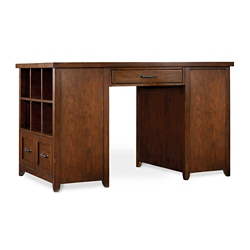 "Double Bookcase Pedestal Partner Desk - 62""W x 36""D x 37""H, 13546"