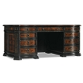 "Traditional Executive Desk with Leather Inlay Top - 72""W x 37""D, 13667"