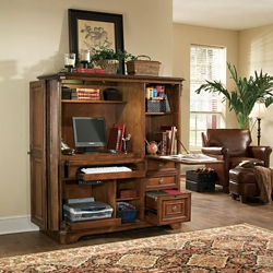 """Traditional Computer Armoire - 55.25""""W x 25.5""""D, 13670"""