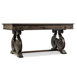 "Rustic Scroll Leg Writing Desk - 66""W x 34""D, 13679"