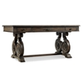 "Rustic Scroll Leg Writing Desk - 66""W x 34""D, 13679"