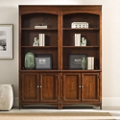 "80.5""H 6 Shelf Contemporary Double Bookcase Set, 32024"