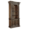"90""H Rustic Three Shelf Bookcase with Doored Storage, 32008"