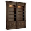"104.25""H Rustic Eight Shelf Double Bookcase , 32023"