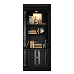 "86""H Five Shelf Bookcase with Doors , 32986"